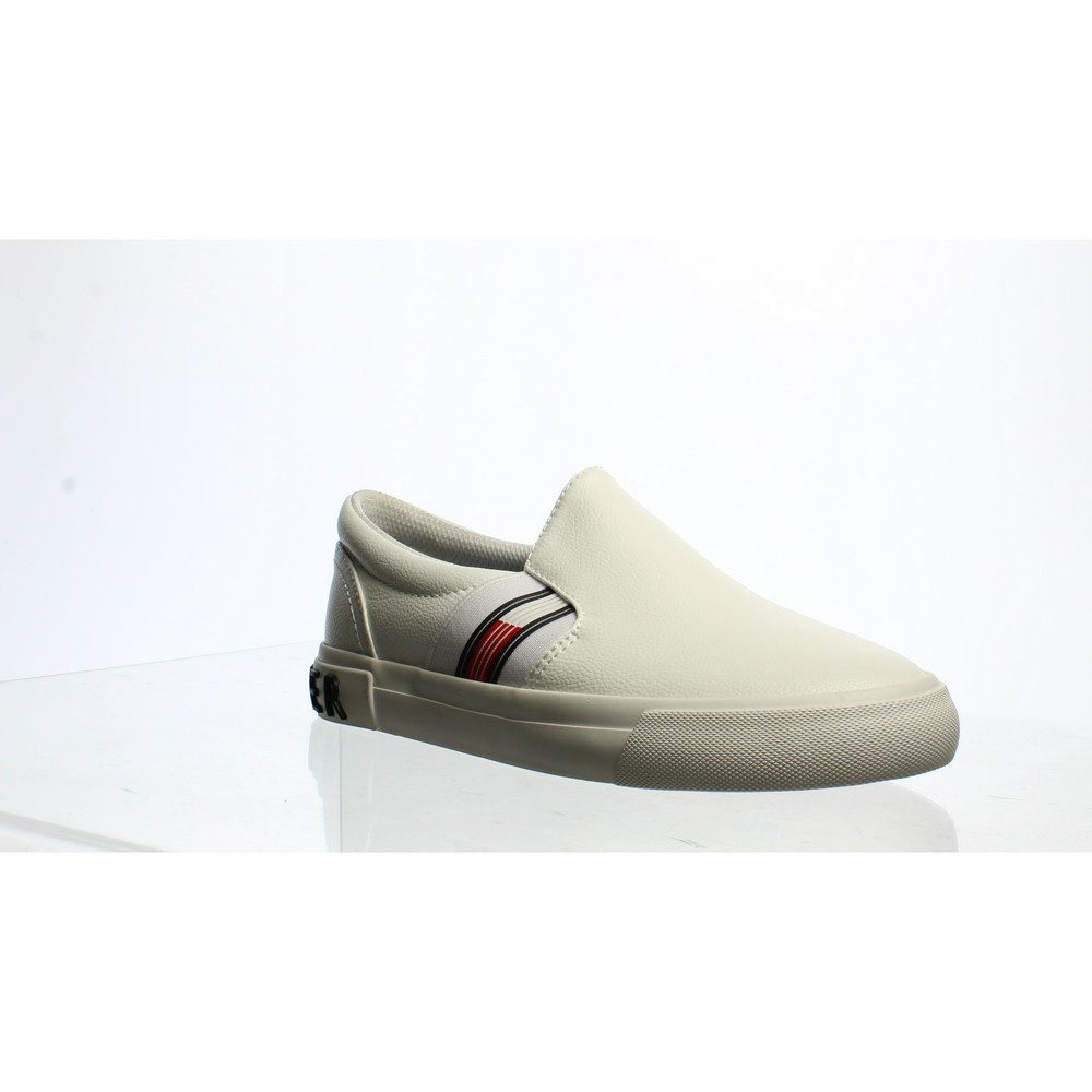 White Tommy Hilfiger Synthetic Slip-ons
